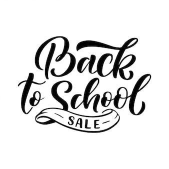 Bem-vindo de volta à escola citação de letras. voltar para a marca de venda de escola.