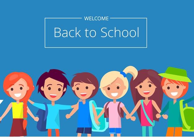 Bem-vindo de volta à escola com crianças