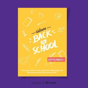 Bem-vindo de volta à escola em setembro