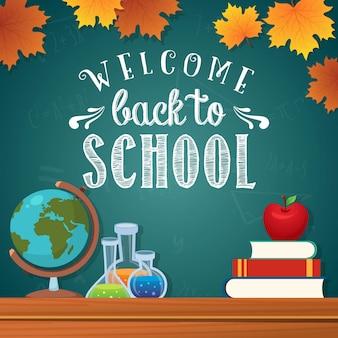 Bem-vindo de volta à escola no design de outono