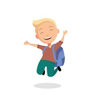 Bem-vindo de volta à escola. o conceito de educação. letras em forma de balões. ilustração vetorial no estilo cartoon.