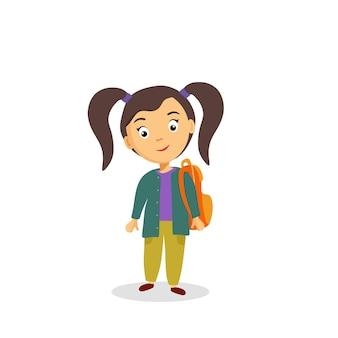 Bem-vindo de volta à escola. o conceito de educação. letras em forma de balões. ilustração vetorial no estilo cartoon. Vetor Premium
