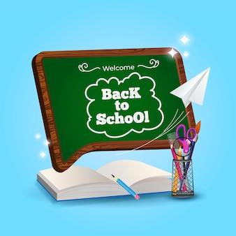 Bem-vindo de volta à escola pronto para estudar