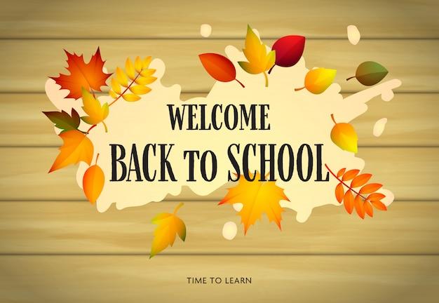 Bem-vindo de volta à escola, tema outono