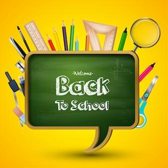 Bem-vindo de volta à saudação escolar