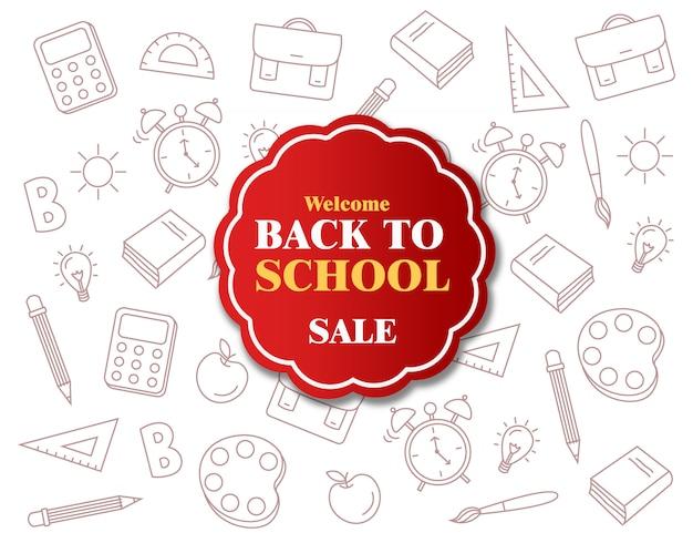 Bem-vindo de volta à venda da escola