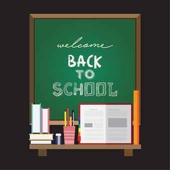 Bem-vindo de volta ao cartaz da escola