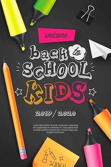 Bem-vindo de volta às crianças da escola