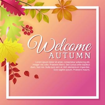 Bem-vindo design de modelo de outono