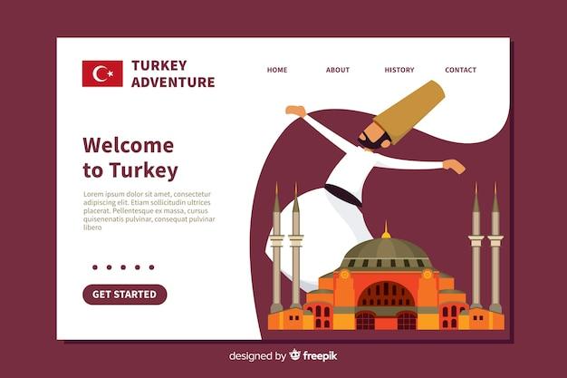 Bem-vindo design plano de página de destino
