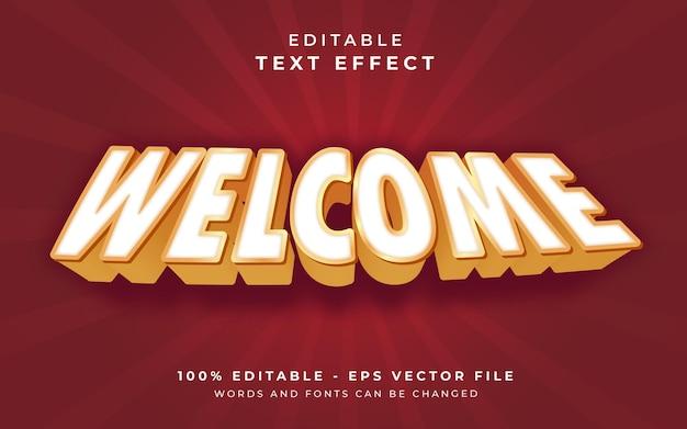 Bem-vindo efeito de texto editável