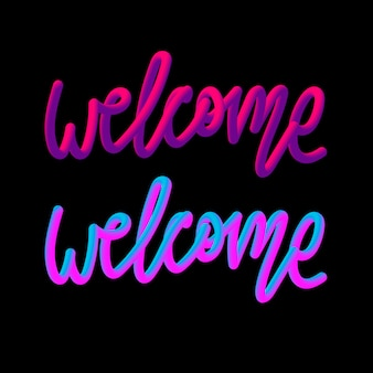 Bem-vindo em cores neon