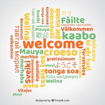 Bem vindo em diferentes idiomas