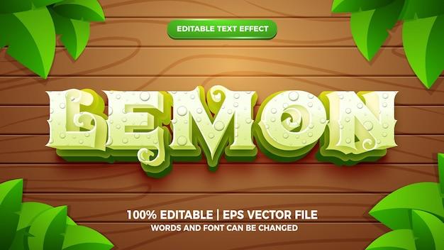 Bem-vindo estilo de desenho animado com efeito de texto editável da primavera 3d