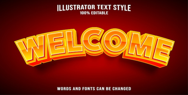 Bem-vindo estilo de texto