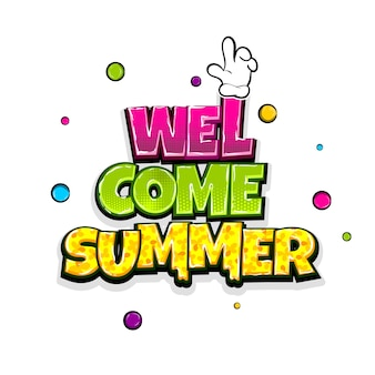 Bem-vindo, férias de verão, viagens, quadrinhos, texto, arte, pop, anuncie, fofinho, quadrinhos, livro, frase, verão