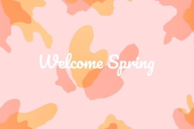 Bem-vindo fundo de primavera vetor premium adequado para múltiplas finalidades