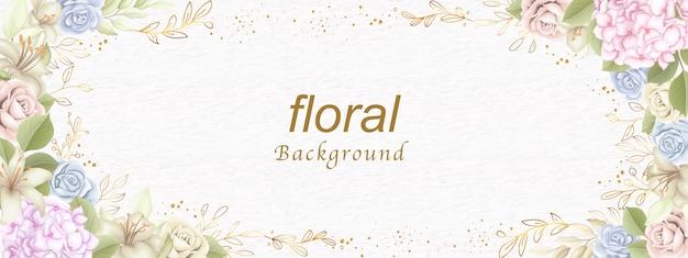 Bem-vindo fundo floral
