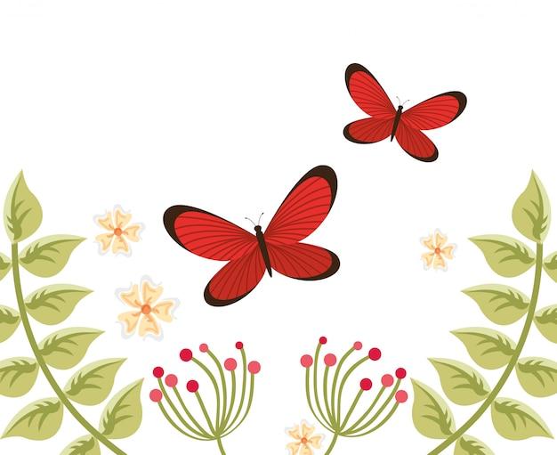 Bem-vindo ilustração primavera