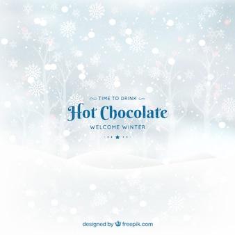 Bem-vindo inverno, hora de beber chocolate quente