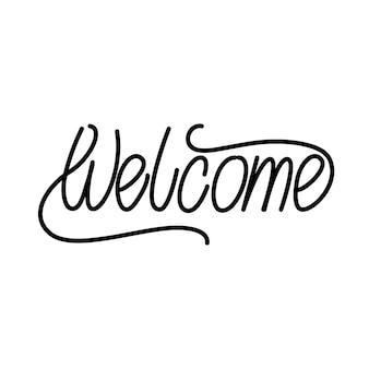 Bem-vindo, lettering, desenho