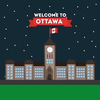 Bem-vindo ottawa parliament building arquitetura nacional