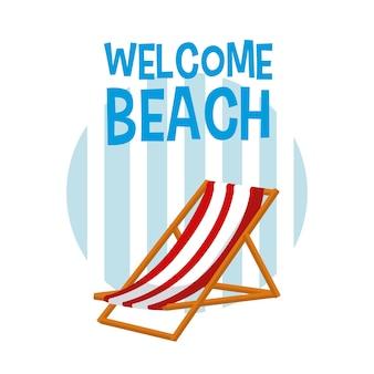 Bem-vindo, praia, desenhos animados