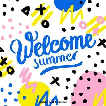 Bem-vindo verão memphis fundo