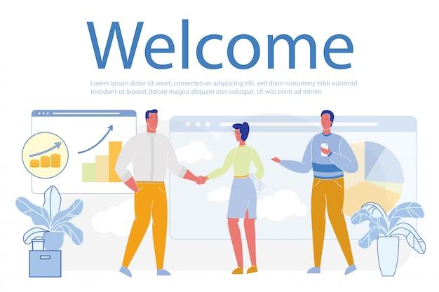 Bem-vindo word and deal ou contrato de parceria.