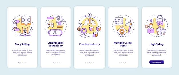 Benefícios da indústria de design de jogos ao integrar a tela da página do aplicativo móvel com conceitos
