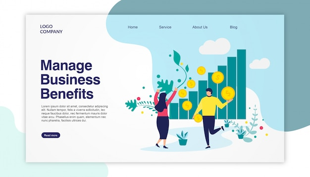 Benefícios de negócios da página de destino