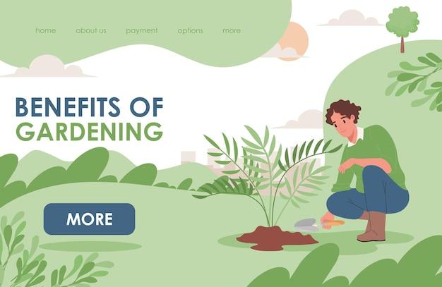 Benefícios do modelo de página de destino de jardinagem