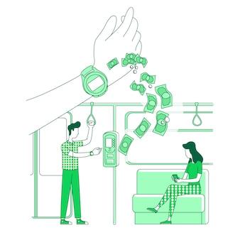 Benefícios do relógio inteligente, pagamentos eletrônicos