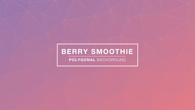 Berry smoothie poligonal