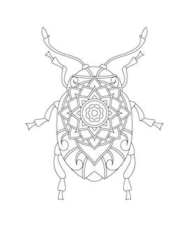 Besouro para colorir ilustração de livro de página