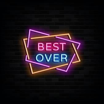 Best over neon signs design template estilo neon