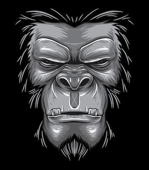 Besta de cara de gorila