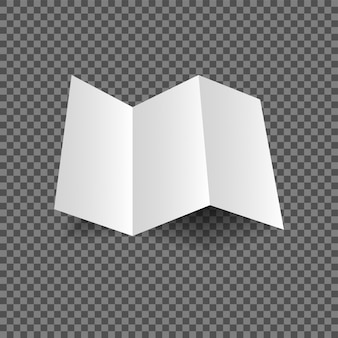 Bi dobra ou meia dobra brochura mock up ilustração vetorial