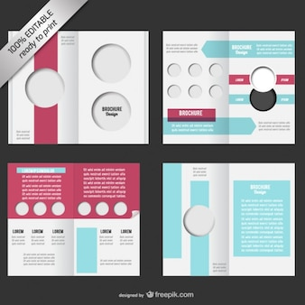 Bi-fold brochura editável mock-up