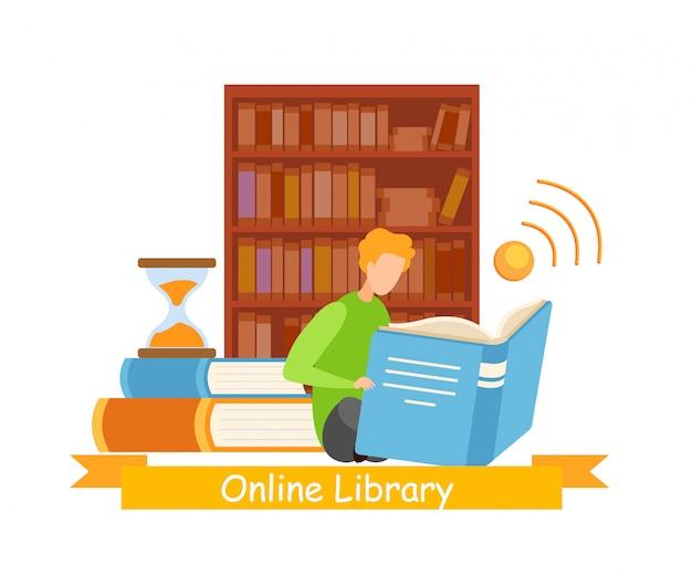 Bibliófilo no banner da web da biblioteca