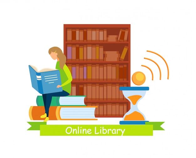 Biblioteca de mídia web banner modelo plano