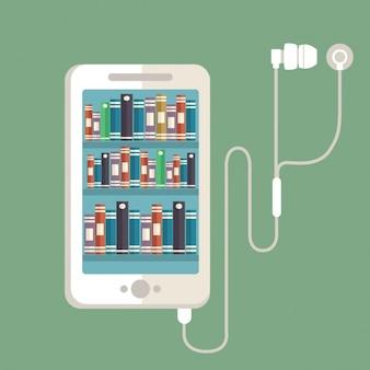 Biblioteca de música no telemóvel