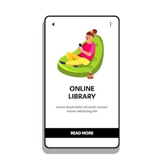 Biblioteca online para leitura de e-book no telefone
