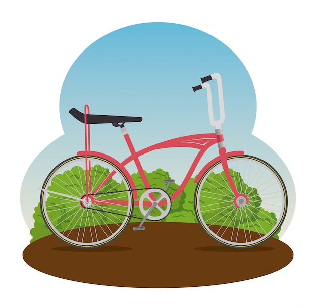 Bicicleta com ilustração de pétala e assento