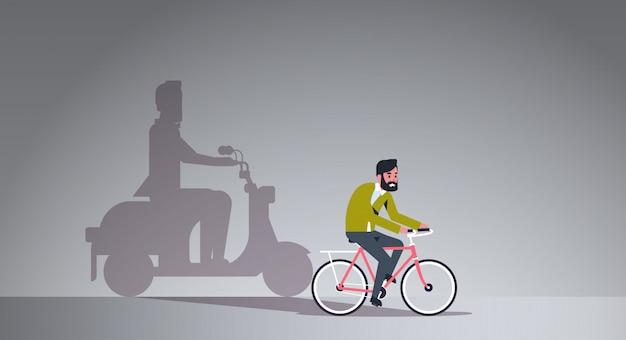 Bicicleta de equitação cara casual
