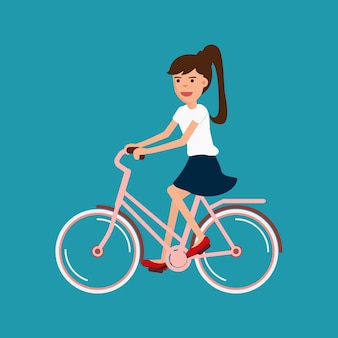 Bicicleta de equitação de mulher