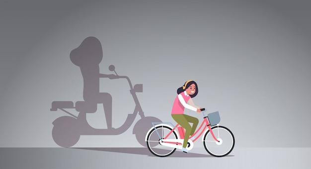 Bicicleta de equitação menina casual