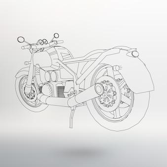 Bicicleta de estrada. motocicleta nas curvas de nível. silhueta de uma motocicleta. os contornos da motocicleta