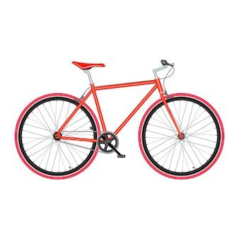 Bicicleta em ilustração vetorial de qualidade de pôster de fundo branco