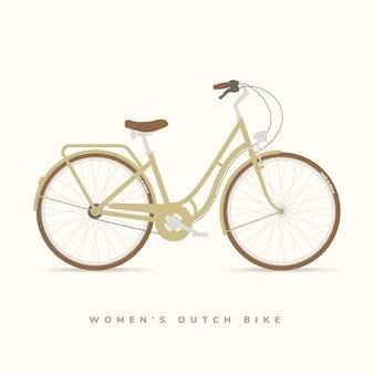 Bicicleta holandesa clássica das mulheres, ilustração vetorial